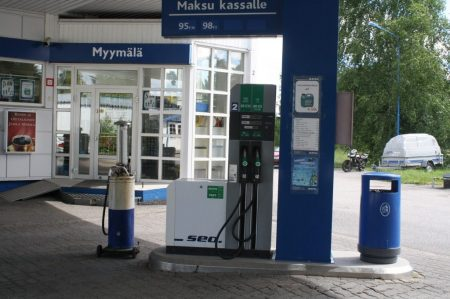 автозаправка в Финляндии