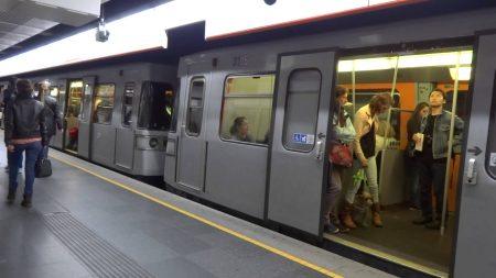вагоны в метро Австрии