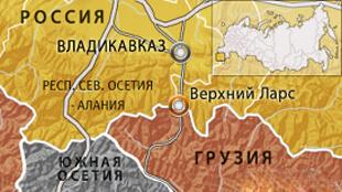 """Корнтрольно-пропускной пункт """"Казбеги-Верхний-Ларс"""" на карте"""