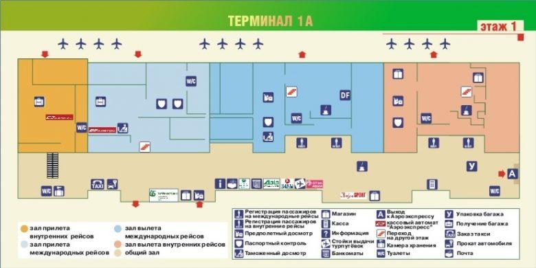 Схема аэропорта Даболим