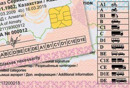 Категории водительских прав в Казахстане