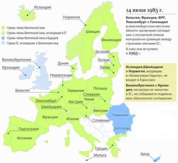 Болгария не входит в страны Шенгена