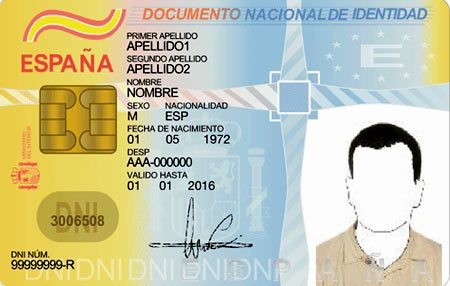 Удостоверение личности в Испании