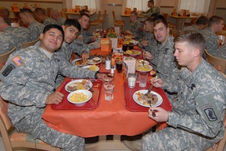 Обед в армии США