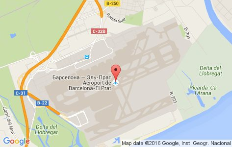 Аэропорт Ел Прат на карте