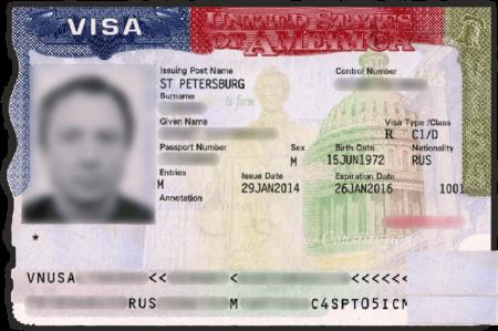 виза США для моряков C1/D