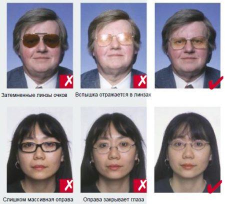 фото на визу в очках