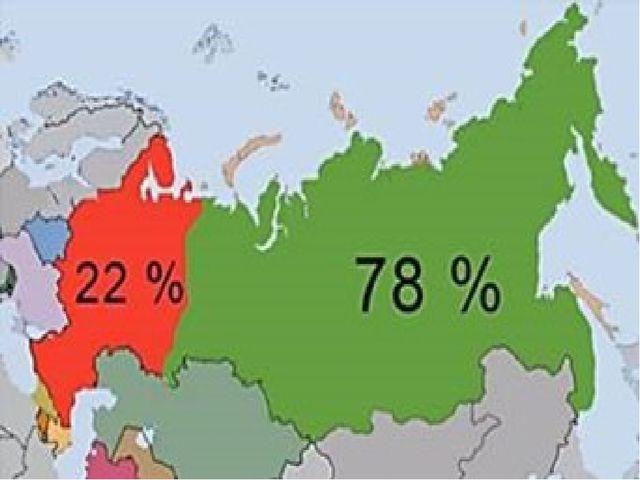 Положение России в Европе и Азии.