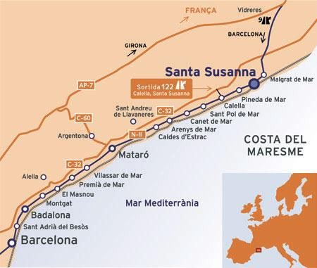 Город Санта Сусанна на карте