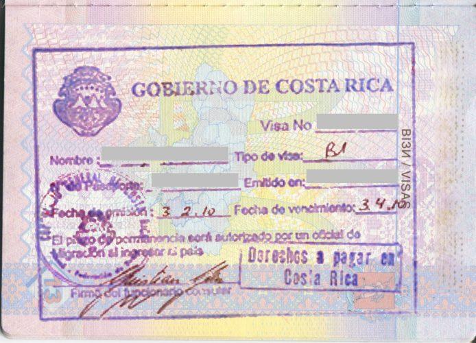 виза по прибытию в Коста-Рика