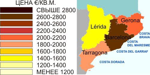 цены на недвижимость в Каталонии