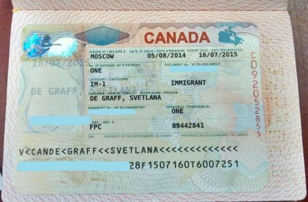 иммиграционная виза Канады