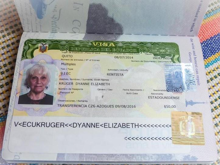виза в Эквадор