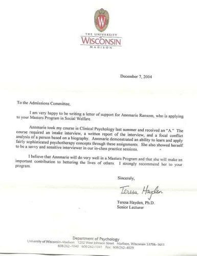 рекомендательное письмо для поступления в американский университет