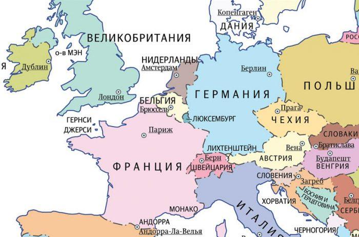 Лихтенштейн на карте