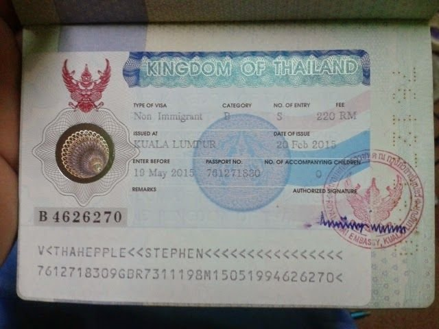 Однократная виза в Тайланд