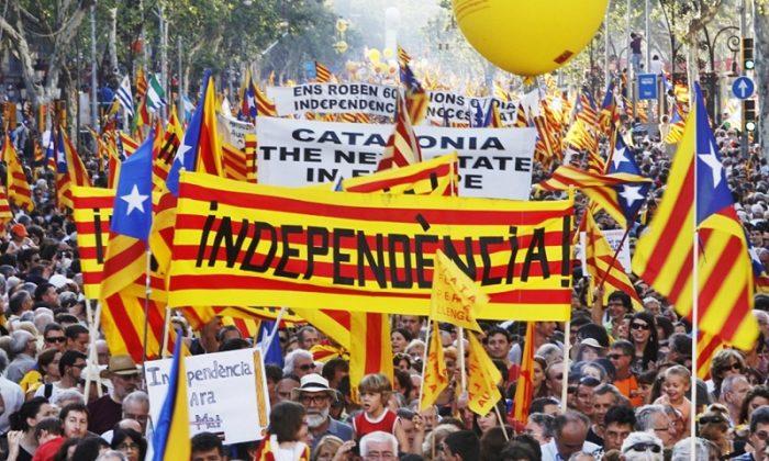 Сторонники референдума о независимости Каталонии