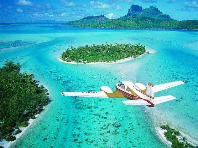 вид на острова Тонга