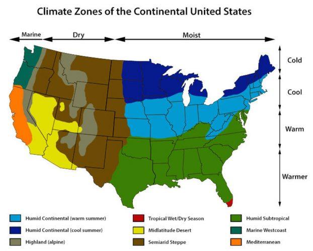 Климат в США