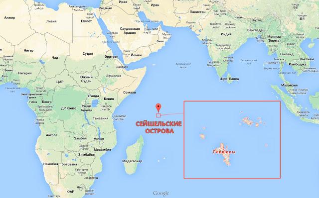 Сейшелы на карте мира