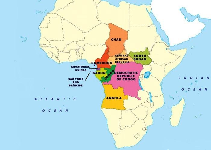 Карта Центральной Африки