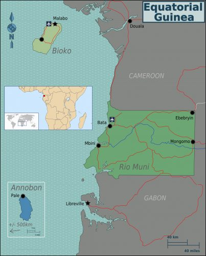 Карта Экваториальной Гвинеи