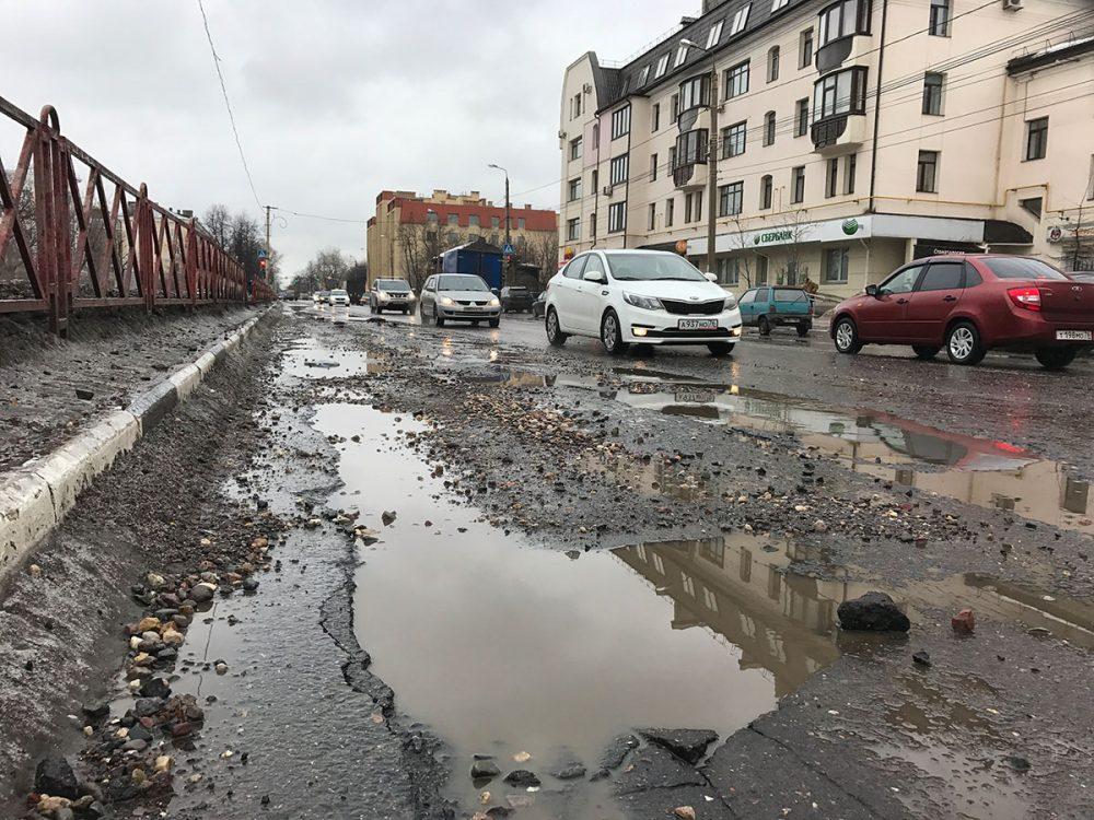 Разбитые дороги в Ярославле