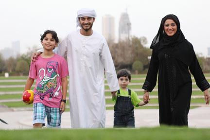 семья в Омане