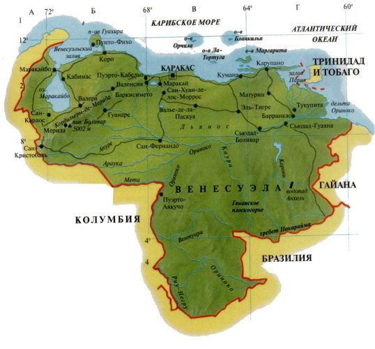 Карта Венесуэлы