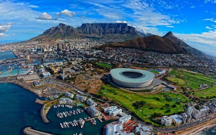 Вид сверху на Кейптаун (ЮАР)