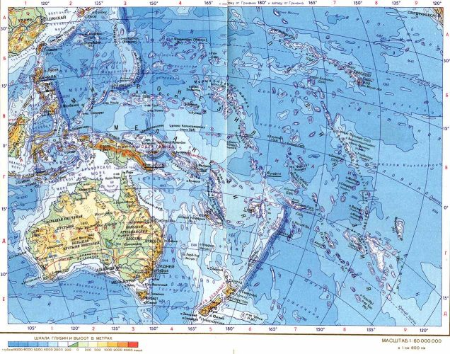 Австралия на карте