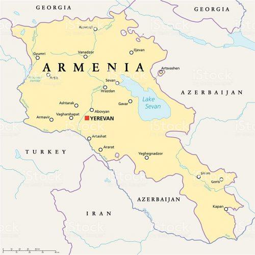 Армения на карте
