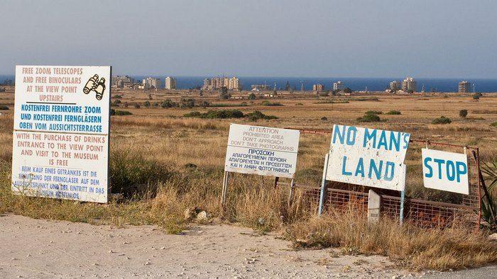 Граница южного и северного Кипра
