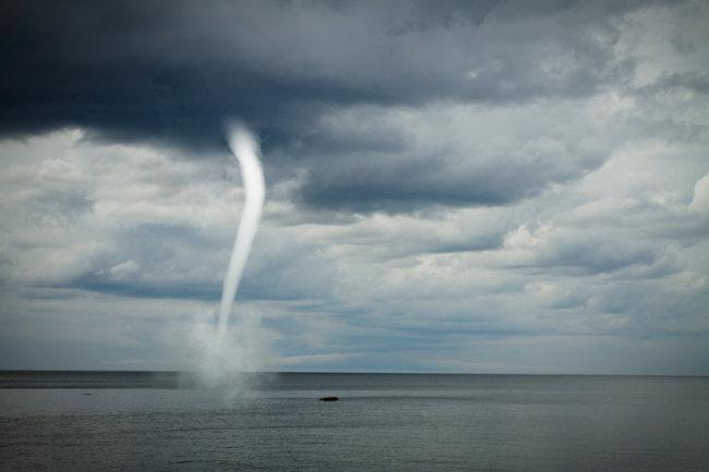 Морской смерч в Новороссийске