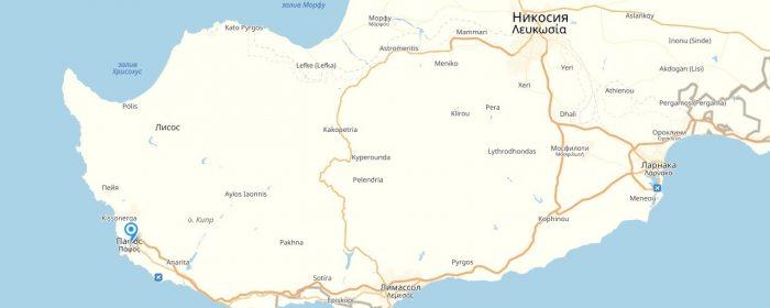 Пафос на карте