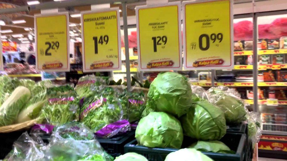 Цены на продукты в Финляндии