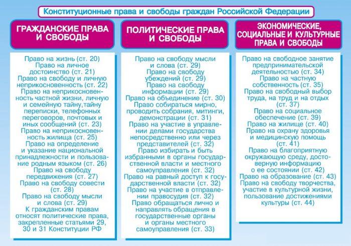 Конституционные права гражданина РФ