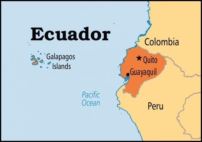 Эквадор на карте