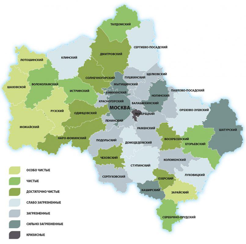 Экологическая карта Московской области