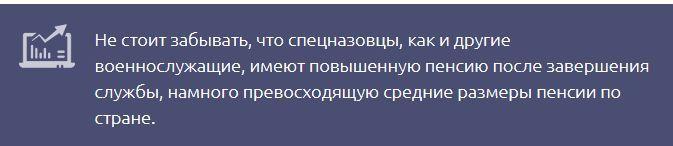 Пенсия в спецназе РФ