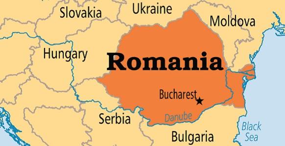Румыния на карте