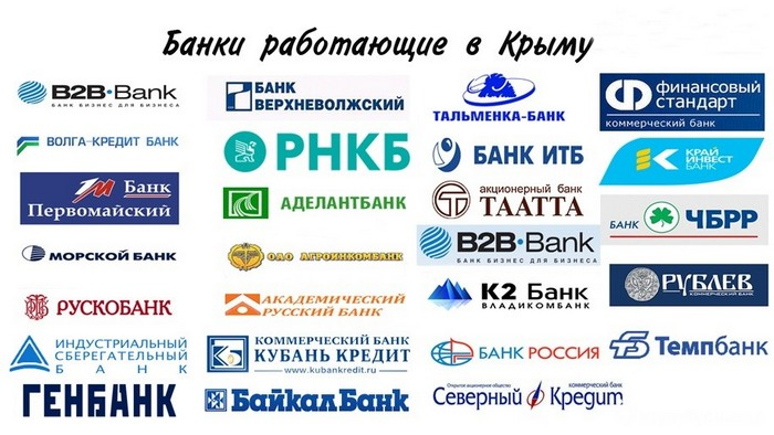 Банки, работающие в Крыму