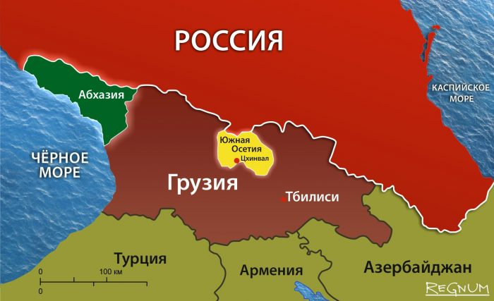Южная Осетия на карте мира