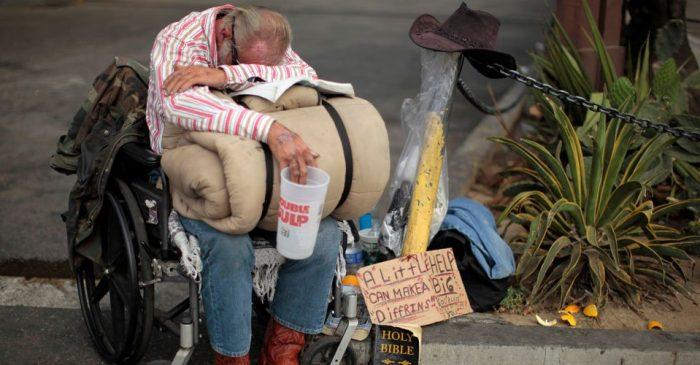Бедняк в США