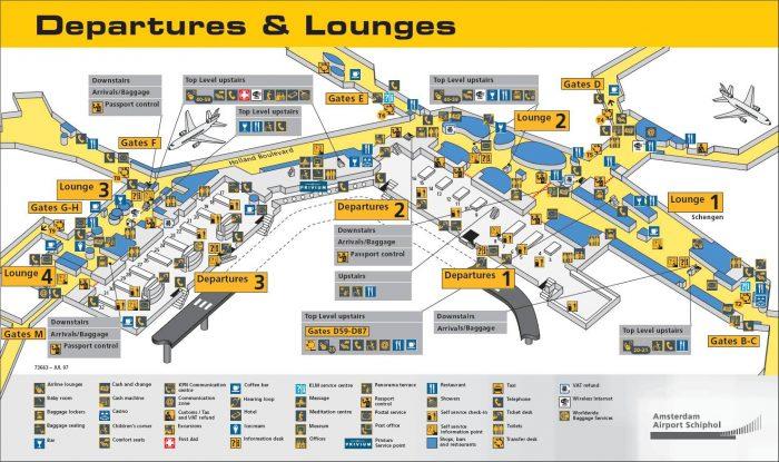 Схема аэропорта Стрипхол в Амстердаме