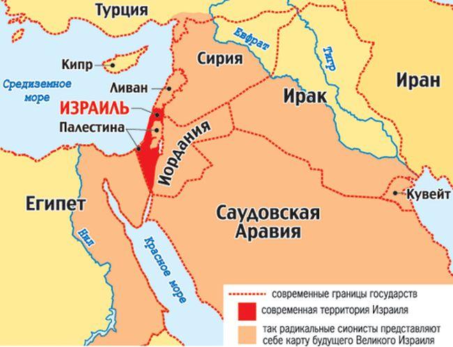 Карта Ближнего Востока