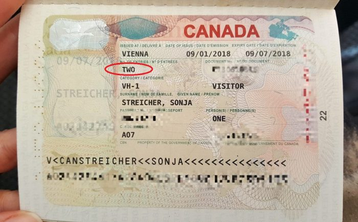 Двукратная транзитная виза в Канаду