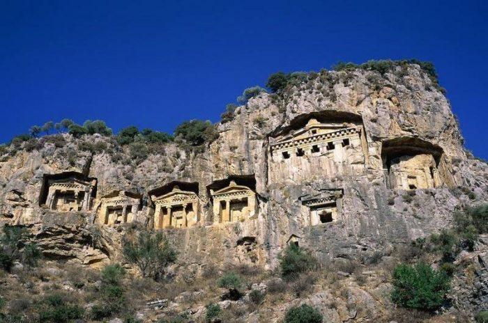 Ликийские гробницы в Фетхие, Турция