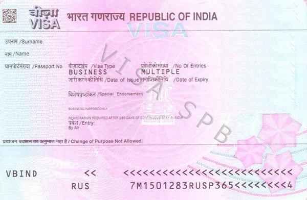 Так выглядит рабочая виза в Индию