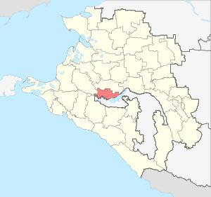 Расположение Краснодарского района на карте Краснодарского края